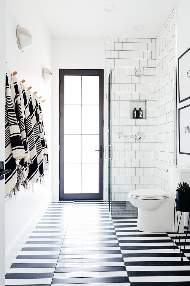 Black and white tile