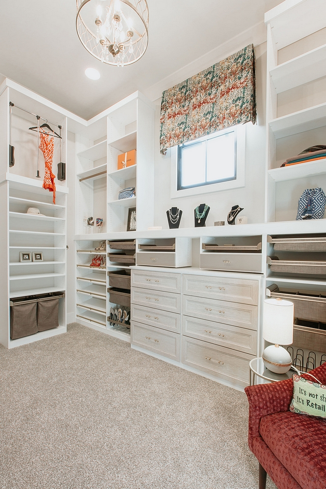 Closet Dressing Room This custom dressing room features plenty of organized storage space Closet Dressing Room Closet Dressing Room #Closet #DressingRoom