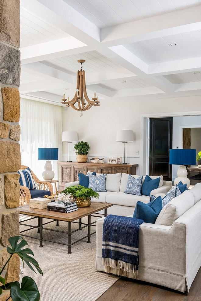 Blue and white beach house color scheme