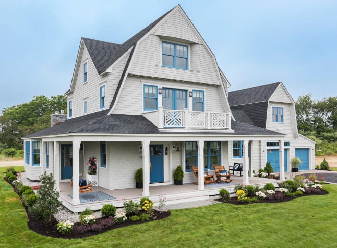 Gambrel Shingle Home Exterior