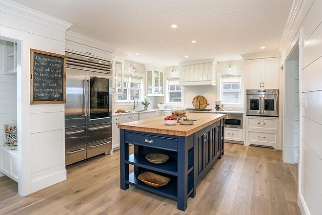 Kitchen With Blue Island Home Bunch Interior Design Ideas