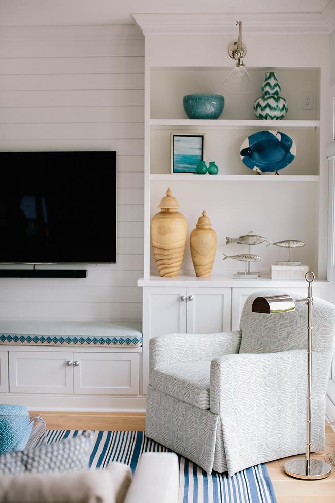 Benjamin Moore White Custom Bookcase Cabinet