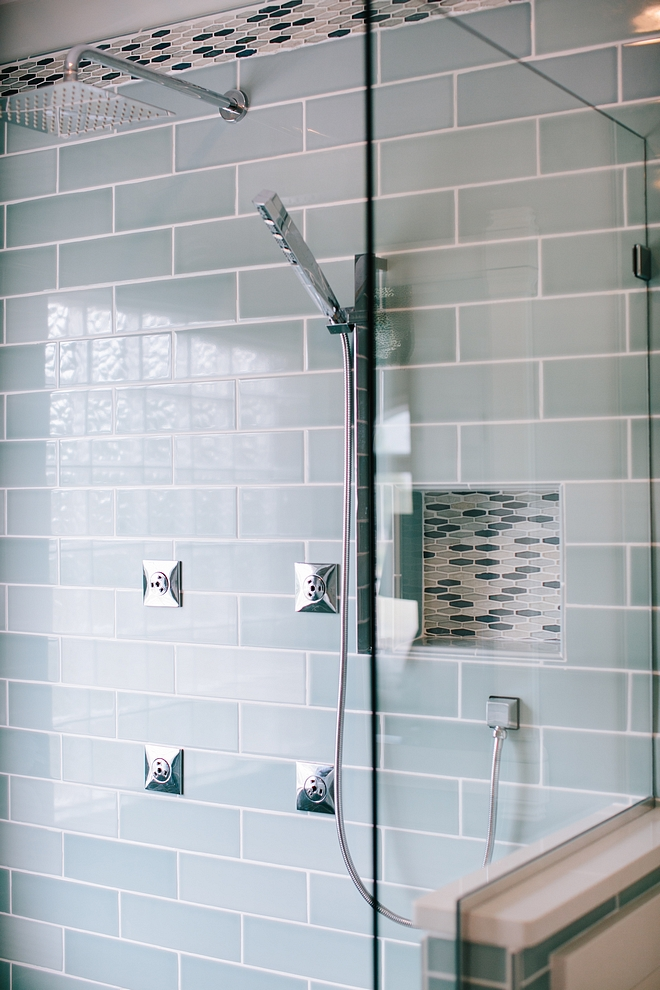 Blue Shower Tile