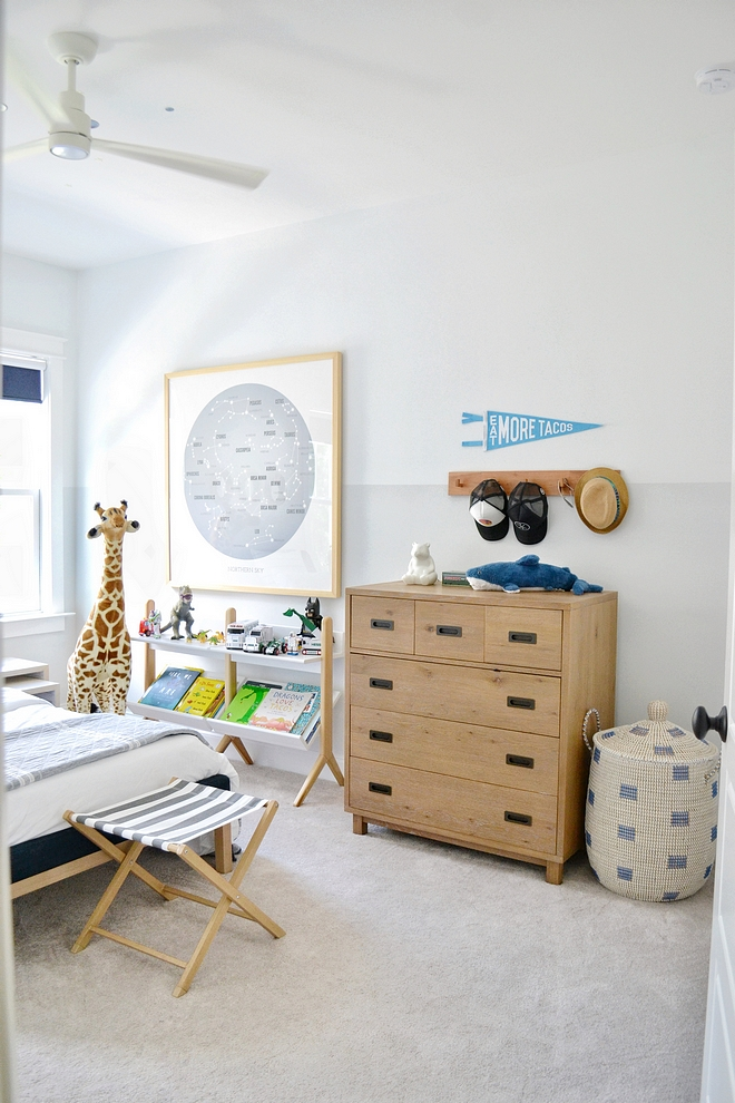 Two toned wall paint colors for boys bedroom
