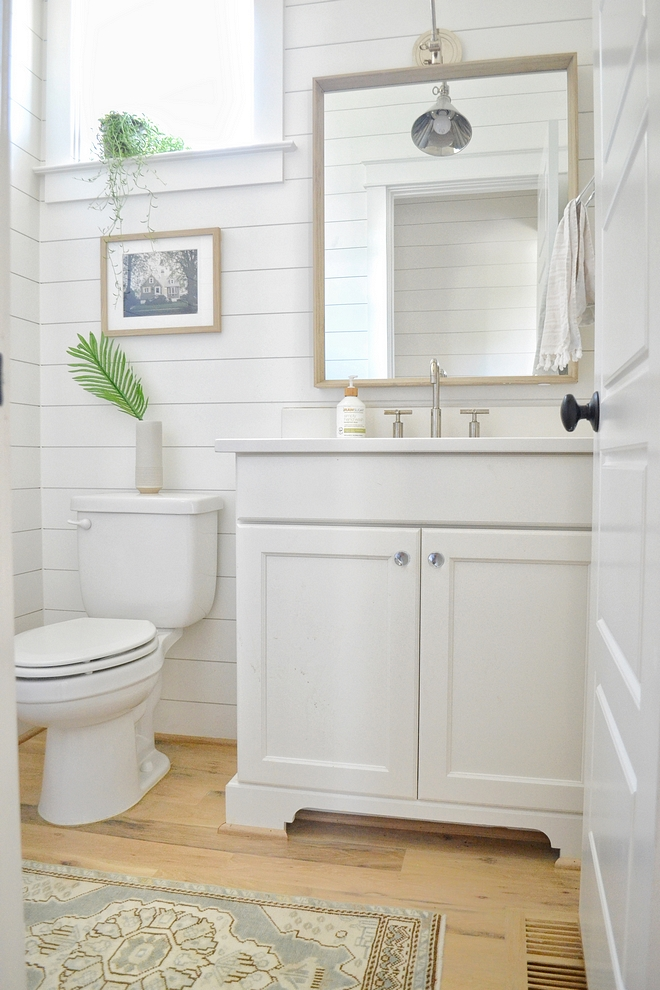 Powder Room Shiplap Paint Color