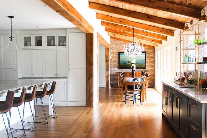 Reclaimed Wood Sloped Ceiling