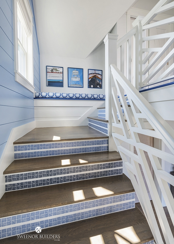 Tiled Stair Risers