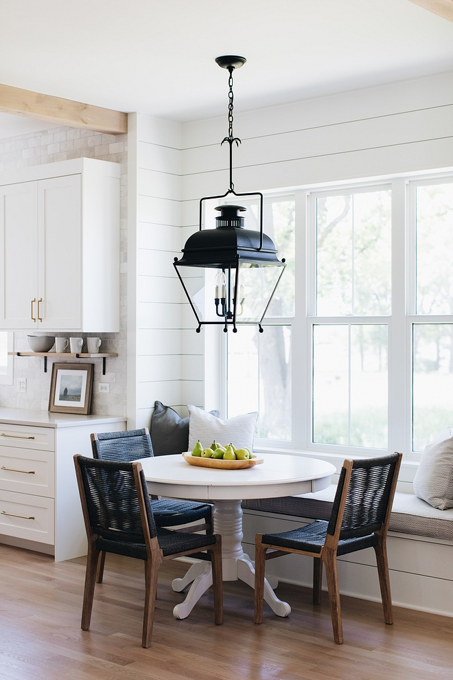 Benjamin Moore Simply White Shiplap Kitchen