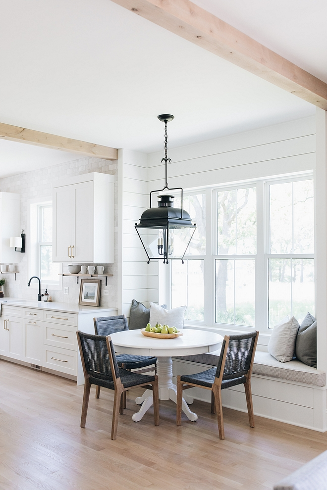 Breakfast Room with shiplap