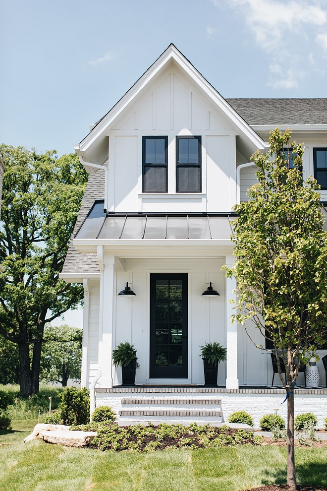 cool modern farmhouse exterior | Top 5 White Modern Farmhouse Exteriors - Home Bunch ...