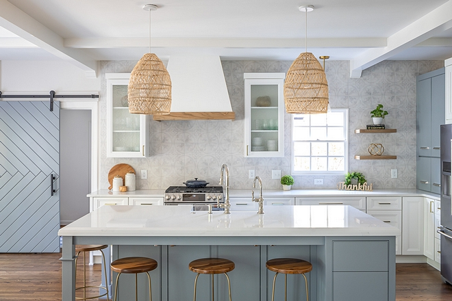 Two Toned Grey And White Kitchen Renovation Home Bunch Interior Design Ideas