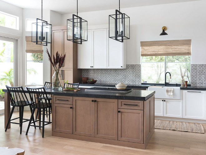 Kitchen Trend: Wood Stained and Painted Cabinets - Home ...