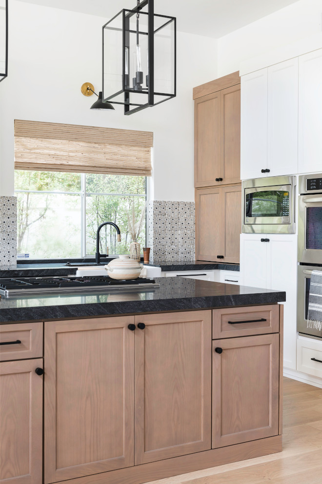 Kitchen Trend Wood Stained And Painted Cabinets Home Bunch Interior Design Ideas