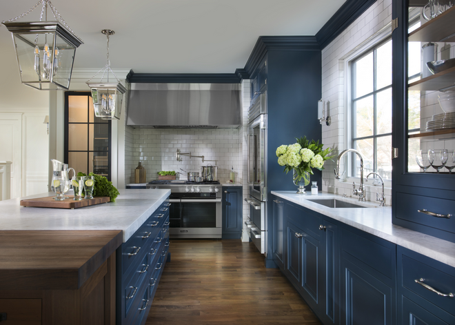 Navy Blue Kitchen Home Bunch Interior Design Ideas