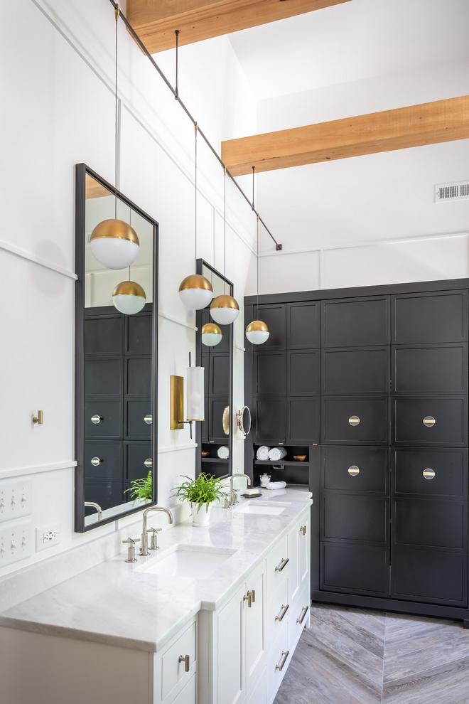 Black White Modern Farmhouse Bathroom Home Bunch Interior Design Ideas