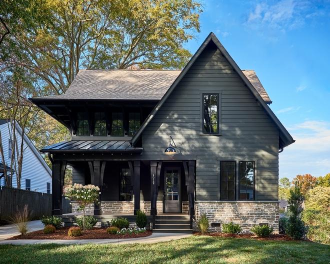 Small House With Dark Exterior Home Bunch Interior Design Ideas
