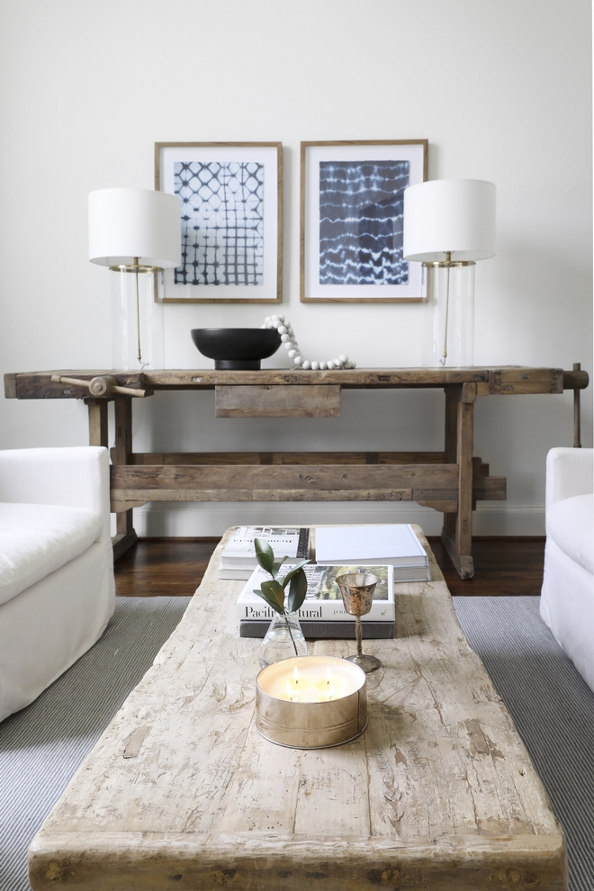 Rustic Vintage Console Table