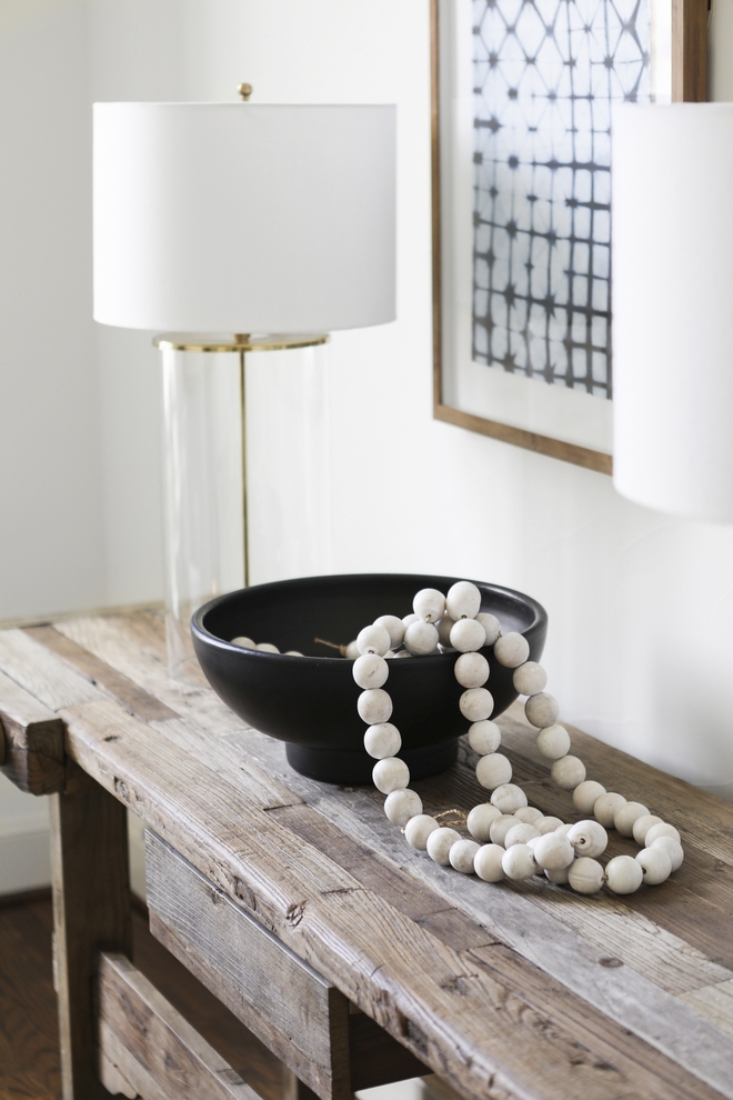 Wooden Beads Oversized Wood Beaded Garland Natural