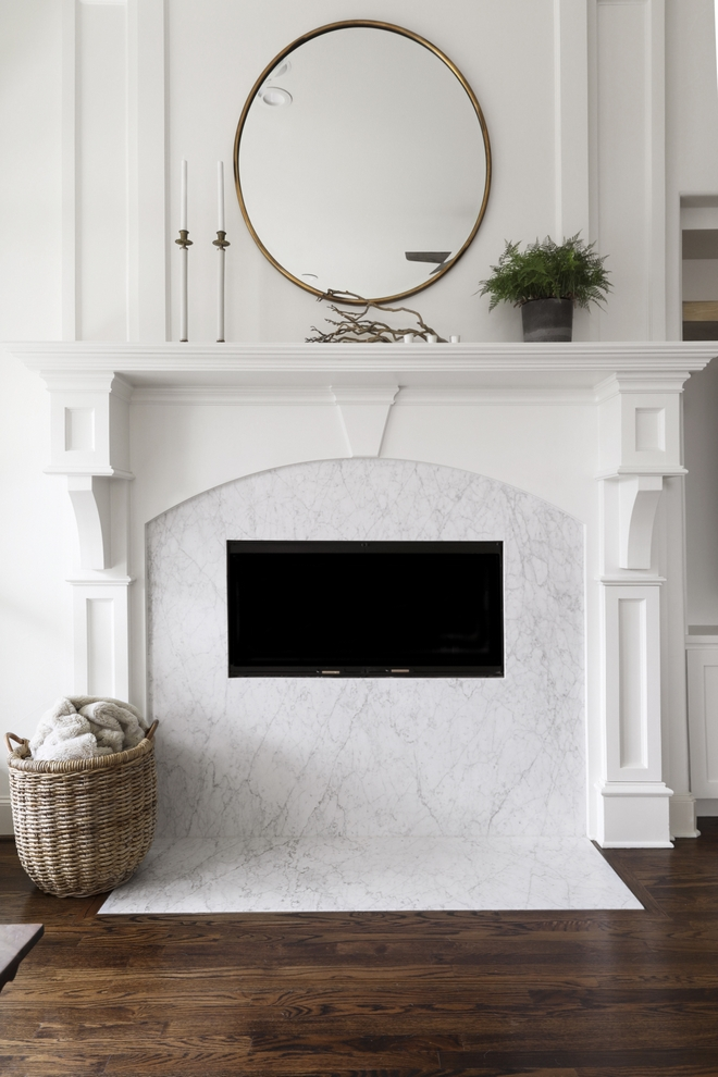 Carrara Marble Fireplace Traditional fireplace with Carrara marble surround