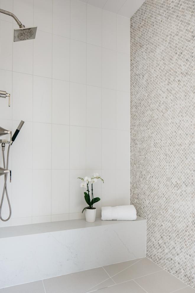 Shower Tile Combination Ideas Neutral Shower Tile