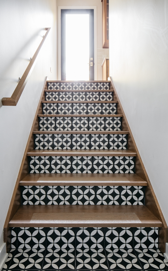 Stair Risers Tile Tiles of all styles are the perfect design accent for a stair riser