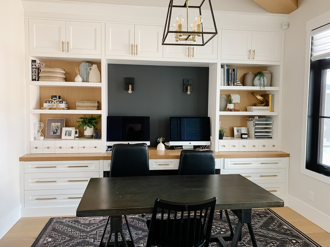 Benjamin Moore OC-65 Chantilly Lace Home Office Cabinet Paint Color Benjamin Moore OC-65 Chantilly Lace