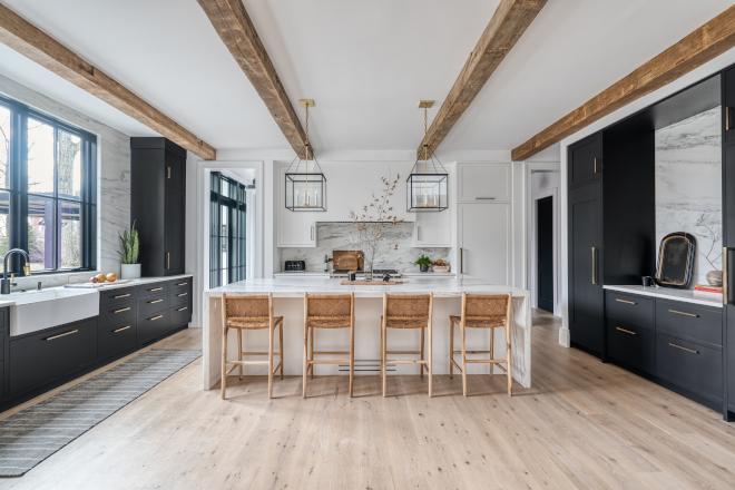 Black And White Modern Farmhouse Kitchen Home Bunch Interior Design Ideas
