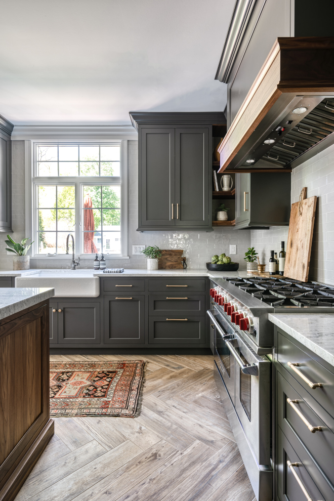 Benjamin Moore HC-166 Kendall Charcoal Kitchen cabinet paint color