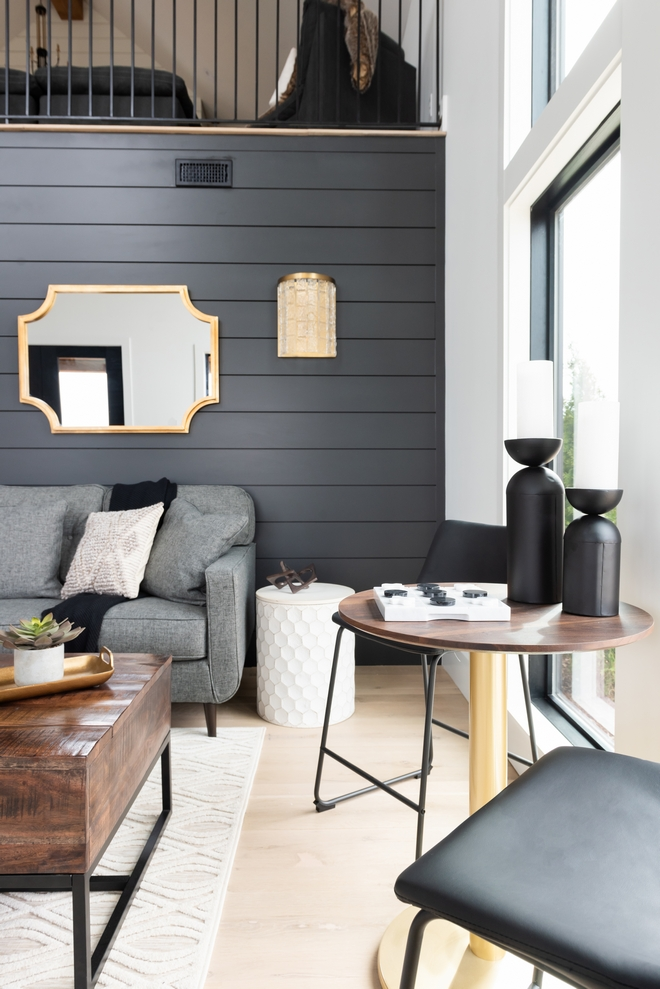 Modern Farmhouse Interior Paint Color Sherwin Williams Iron Ore Most Popular Accent paint color for Modern Farmhouse Interiors