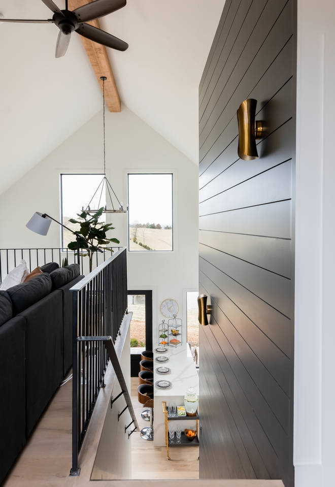Black and white interiors Modern Farmhouse with black and white interiors