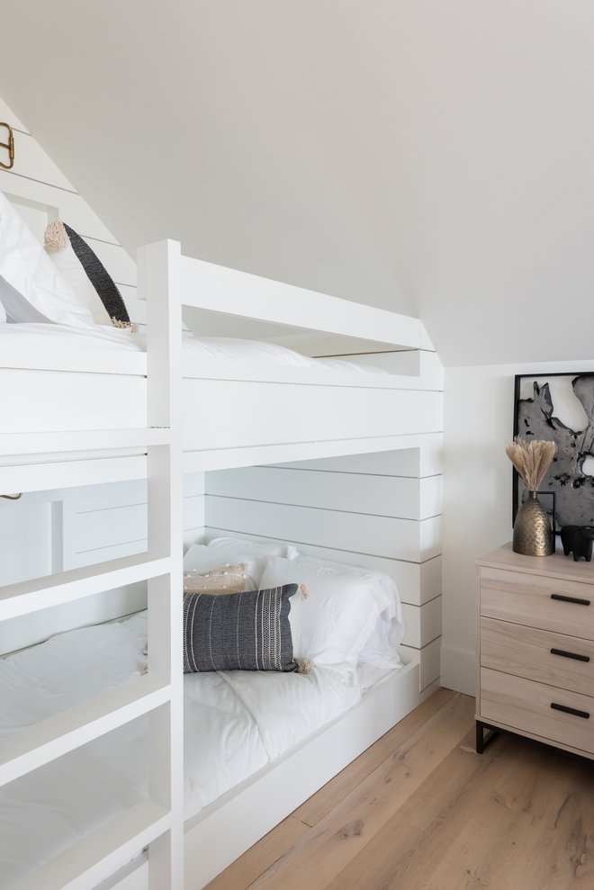 Sherwin Williams Pure White Shiplap Bunk Bed Paint Color