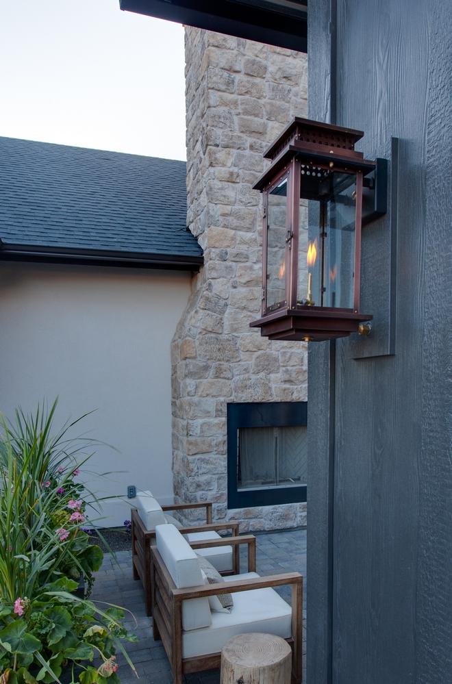 Modern Farmhouse Black Porch Columns