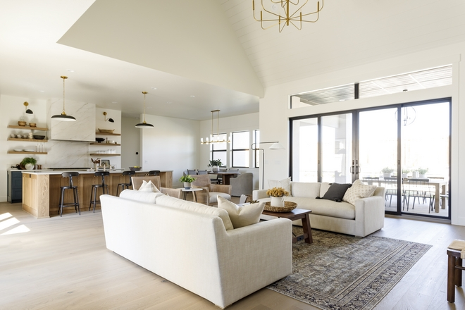 Open Layout Vaulted Ceiling