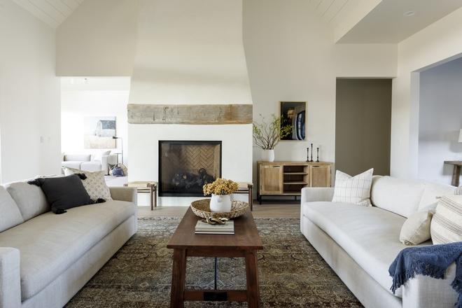Sherwin Williams Alabaster Fireplace