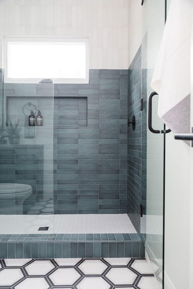 Shower Tile Combination Toned Tile Two-toned shower tile