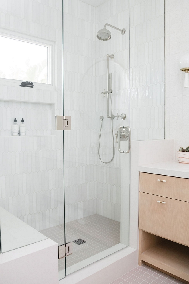 Neutral Shower Tile Picket Tile Shower Tile Combination