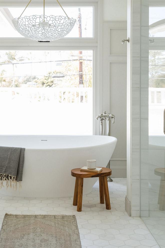 Bathroom Hexagon Marble Tile