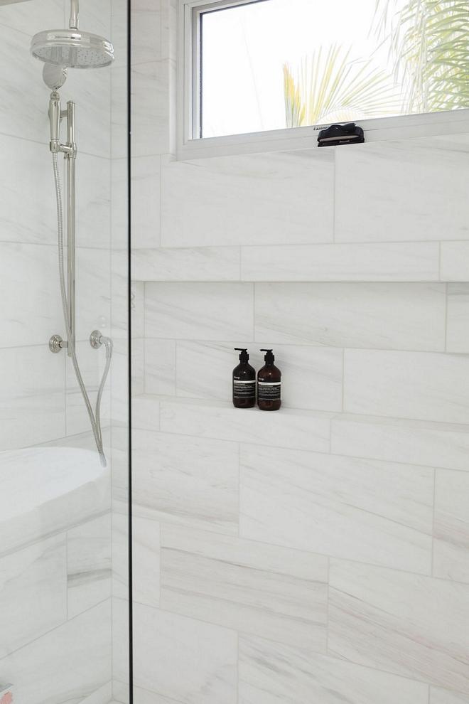 Large shower niche Large shower niche Ideas Large shower niche by shower window
