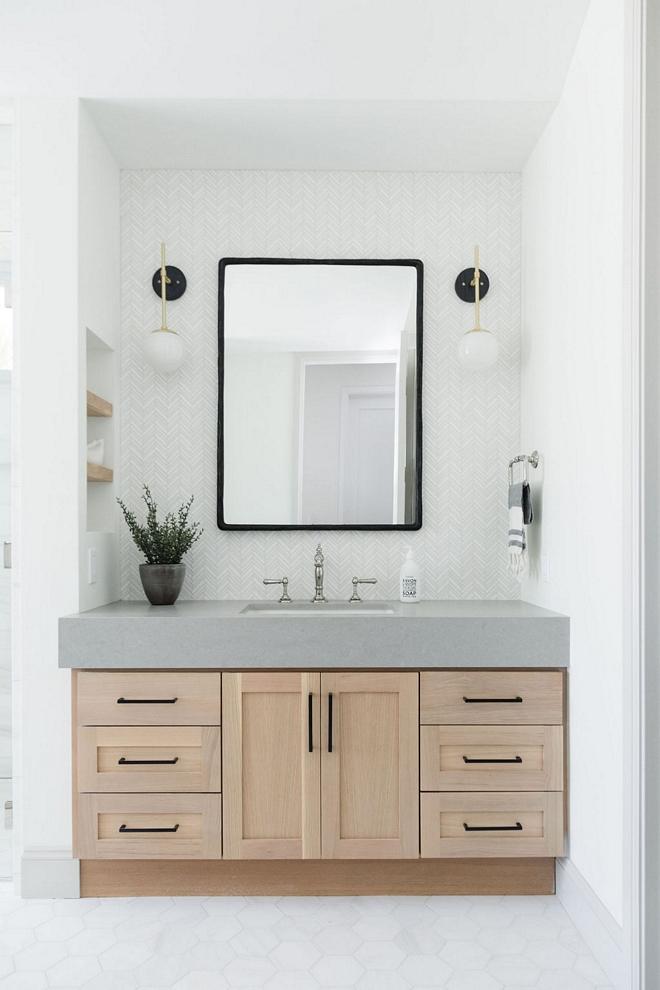 Vanity Wall Tile Thassos White Chevron Tile