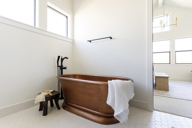 Copper Freestanding Tub Bathroom with Copper Freestanding Tub