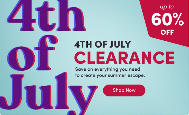 4th of July Home Decor Furniture Sale