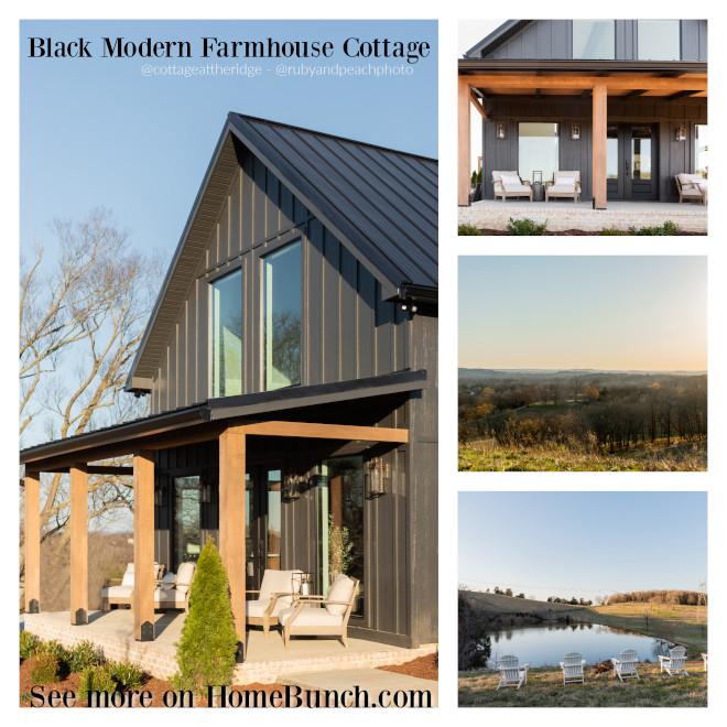 Black Modern Farmhouse Cottage