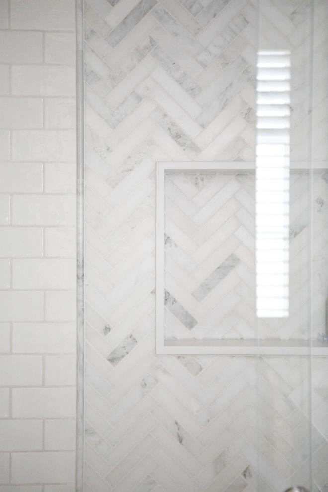 chevron-marble-shower-tile