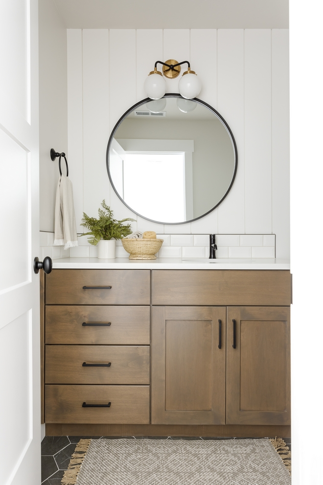 Cabinet Stain Color stained Sherwin Williams Rustic Gray