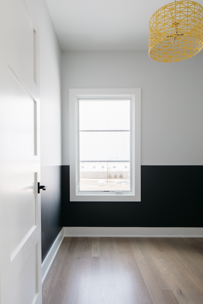 Painting a kids bedroom in two colors is an easy and an affordable way to make their room to feel extra special