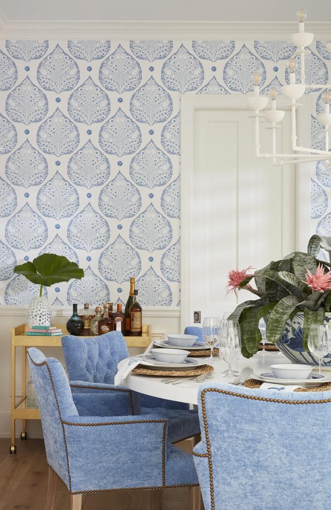 Wallpaper Blue and white Wallpaper Wallpaper Galbraith and Paul Lotus Dining Room Wallpaper #Wallpaper #Blueandwhite #BlueandwhiteWallpaper #GalbraithandPau #GalbraithandPaulLotus #DiningRoom #DiningRoomWallpaper