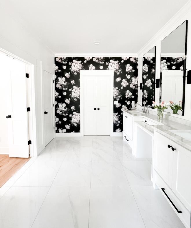 Black floral wallpaper Bathroom wallpaper Floral wallpaper ideas Black floral wallpaper Bathroom wallpaper Floral wallpaper ideas #Blackfloralwallpaper #floralwallpaper #Bathroom #wallpaper