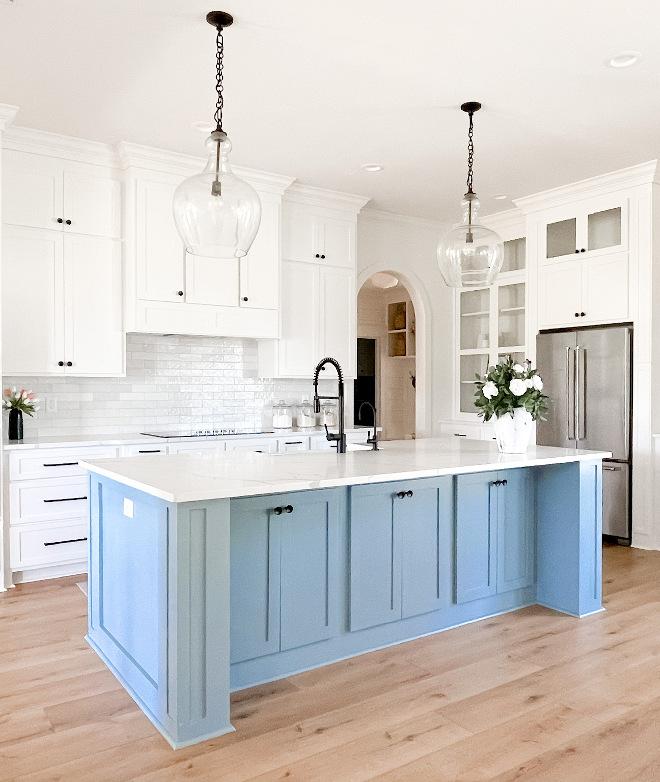 Blue-Kitchen-Island-Paint-Color