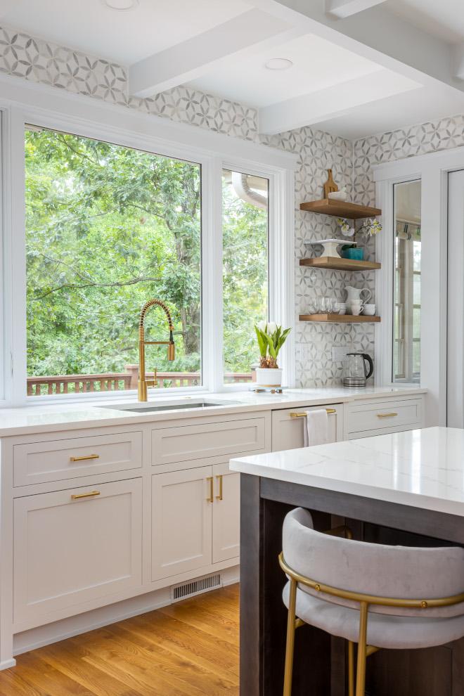 Countertop to ceiling backsplash Marble Mosaic Backsplash Tile Countertop to ceiling backsplash #Countertoptoceilingbacksplash #backsplash #MarbleMosaicTile #BacksplashTile