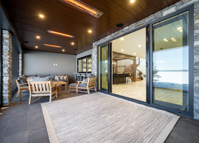 Walk out basement Large sliding glass doors connect to this indoor outdoor space #walkoutbasement #slidingpatiodoor